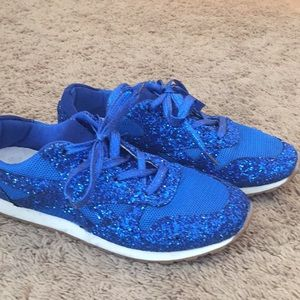 Shoes - Blue glitter sneakers